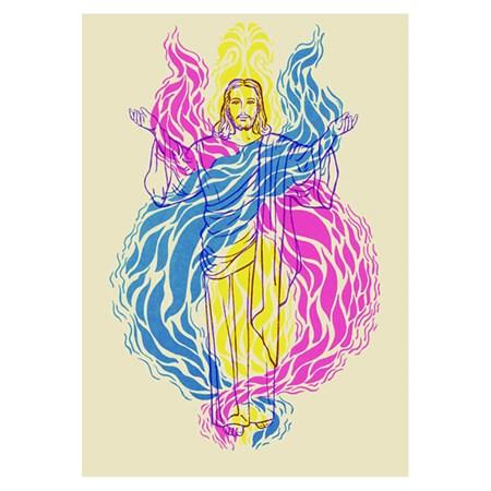 Imagem Cristo e Chama Trina (pequena)