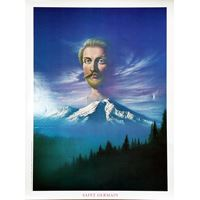 Saint Germain no Monte Shasta (37 x 51 cm)
